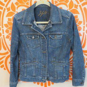 J. Jill Medium Wash Denim Jacket XS